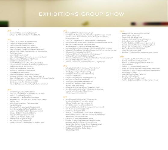 GroupShow Exhibitions List
